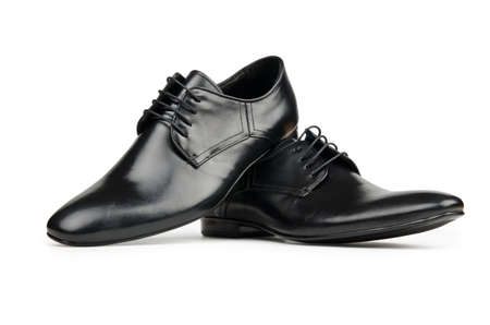 leather shoes: Male shoes in fashion concept