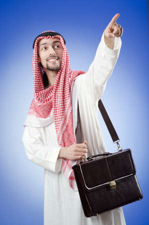 suriyah: Arab businessman in studio shooting Stock Photo