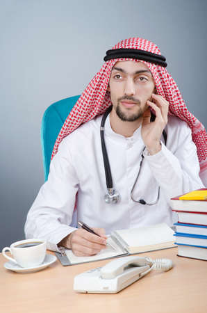 Arab doctor working in hospital Stock Photo - 12586743