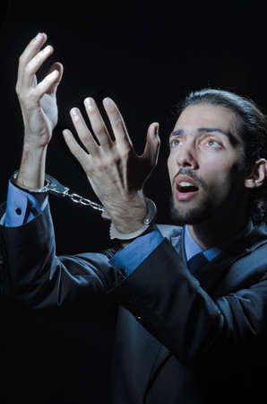 Businessman jailed for his crimes Stock Photo - 12586750