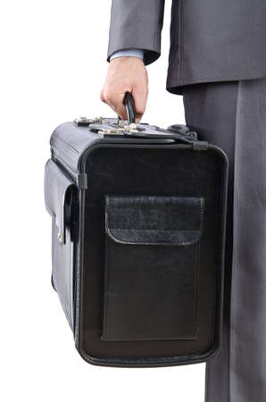 Businessman with suitcase travelling photo