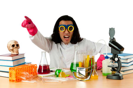 Student working in the chemical lab Stock Photo - 12586663