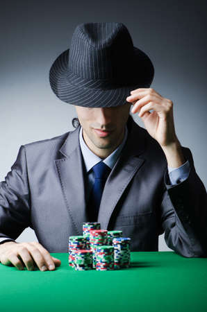 Man playing in the casino photo