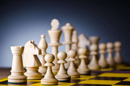 Concept of chess game with pieces Stock Photo - 12714172