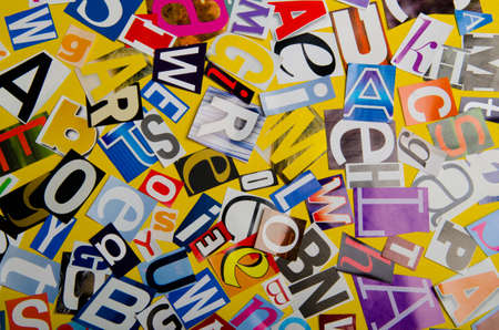 Cut letters from newspapers and magazines Stock Photo - 12713839