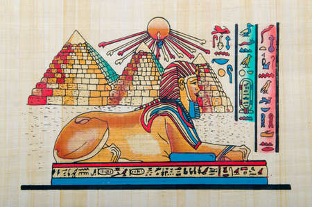 Egyptian history concept with papyrus Stock Photo - 12790252