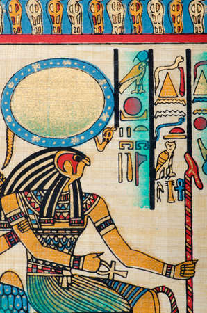 Egyptian history concept with papyrus Stock Photo - 12790254