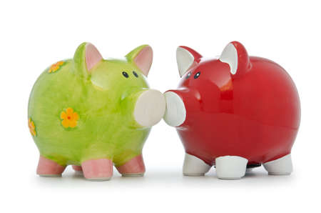 Piggy bank isolated on the white background Stock Photo - 12799276