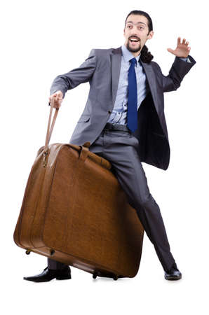Business travel concept with businessman photo