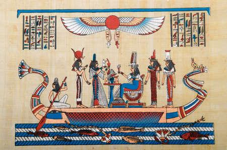 rękopis: Egipska koncepcja historii z papirusu