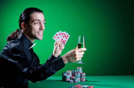 Player in casino and chips Stock Photo - 13063258