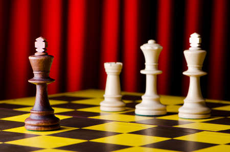 Concept of chess game with pieces Stock Photo - 13013014