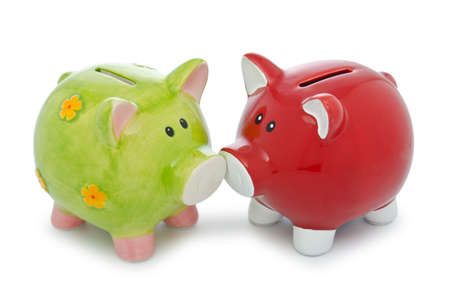 Piggy bank isolated on the white background Stock Photo - 13012730