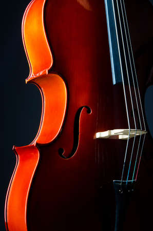 Music concept- close up of cello photo