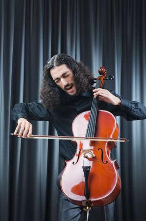 Man playing the cello Stock Photo - 13261231