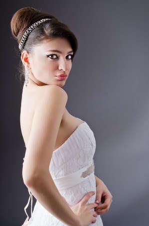 Bride posing in studio shooting Stock Photo - 13261658