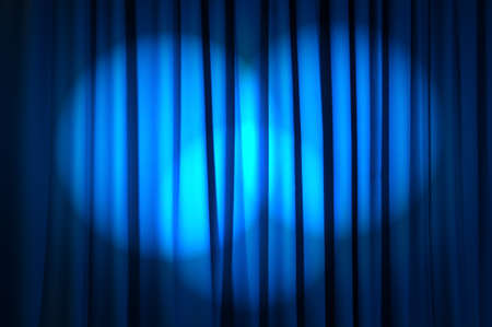 Brightly lit curtains in theatre concept photo
