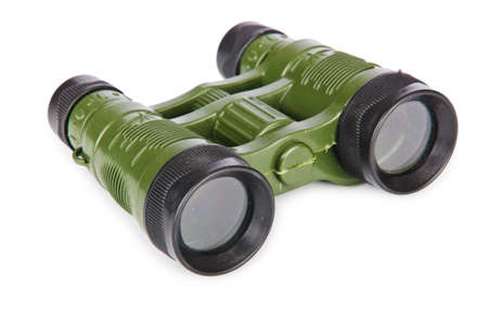 discreet: Military binoculars isolated on white