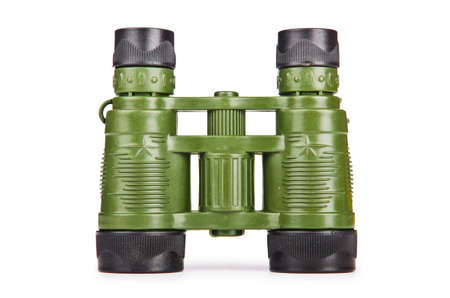 secretion: Military binoculars isolated on white