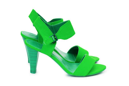 Green Female shoes in fashion concept photo