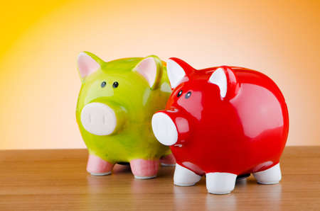 Piggy bank in business concept Stock Photo