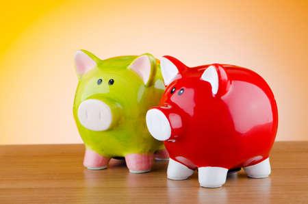 Sparschwein im Business-Konzept