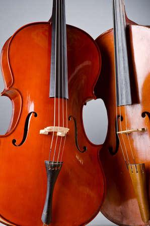 Music Cello in the dark room Stock Photo - 13200074