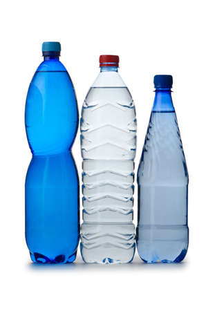 Drinking Water in bottles on white Stock Photo - 13222985