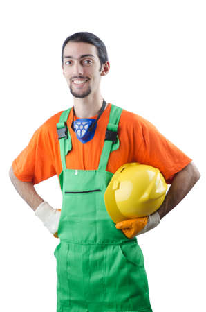 Construction worker isolated on white Stock Photo - 13253658