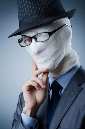anonymity: Man covered in medical bandages