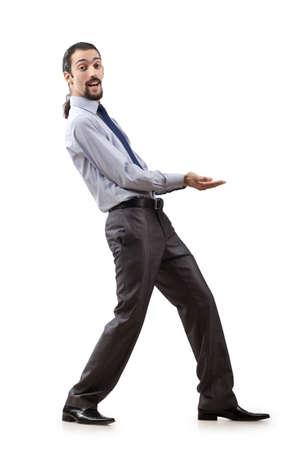 Businessman isolated on the white background Stock Photo - 13253636