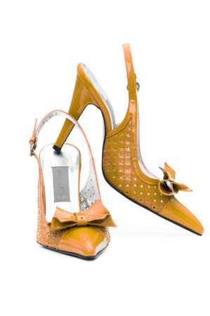 Female shoes on white background Stock Photo - 13309130
