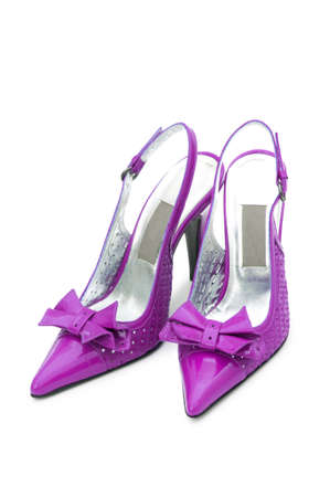 Female shoes on white background Stock Photo - 13309147