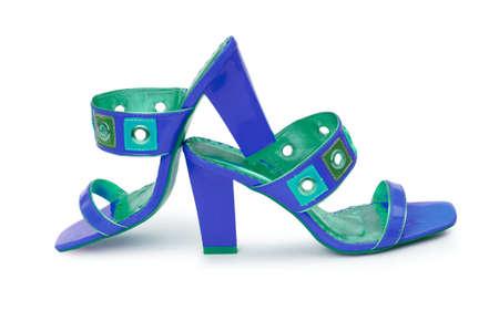 Female shoes on white background Stock Photo - 13309104