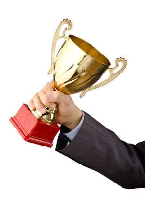 trophy winner: Muž byl oceněn zlatou pohár