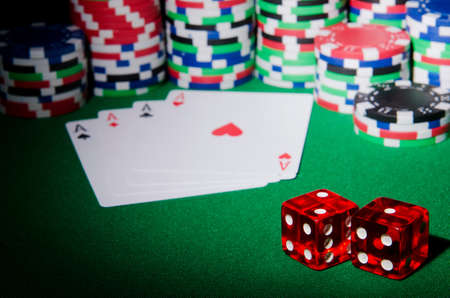 Casino concept with chips and cards Stock Photo - 13303599