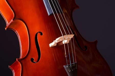 Music Cello in the dark room Stock Photo - 13303576