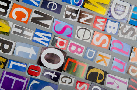 Cut letters from newspapers and magazines Stock Photo - 13303465