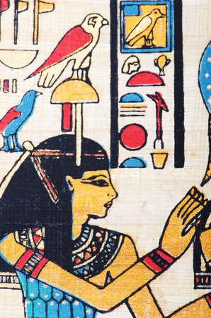 scribes: Papiri egizi come sfondo Archivio Fotografico