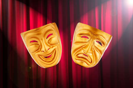 Theatre performance concept with masks Stock Photo - 13415761