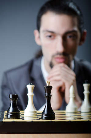 Chess player playing his game Stock Photo - 13643942