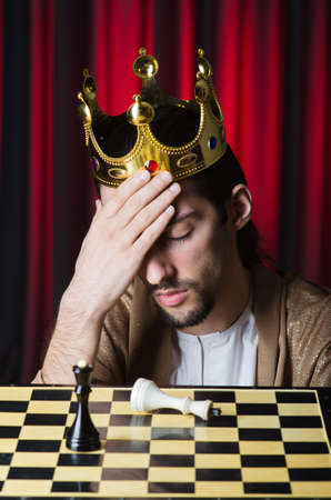 Chess player playing his game Stock Photo - 13643944