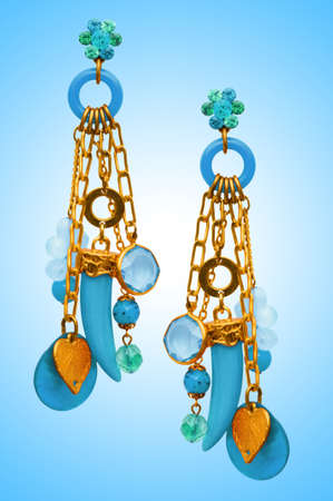 Jewellery concept with nice earrings Stock Photo