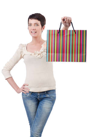 Girl after the shopping spree Stock Photo - 13643881