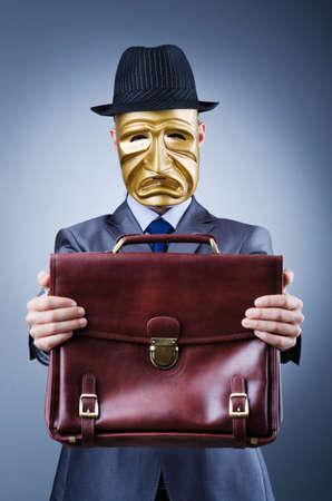 Businessman in industrial espionage concept photo