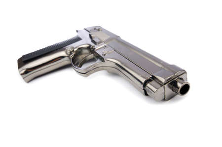 Hand gun isolated on the white background photo