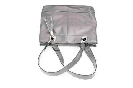 Elegant woman bag on white photo