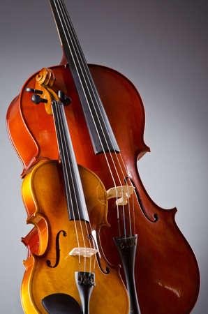 Music Cello in the dark room photo