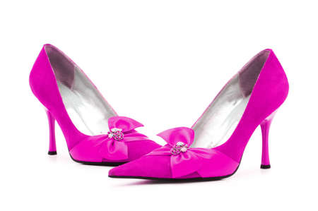 Female shoes on white background Stock Photo - 13522961
