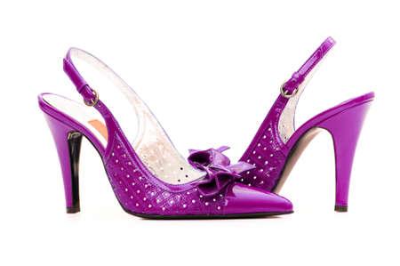 Female shoes on white background Stock Photo - 13588574